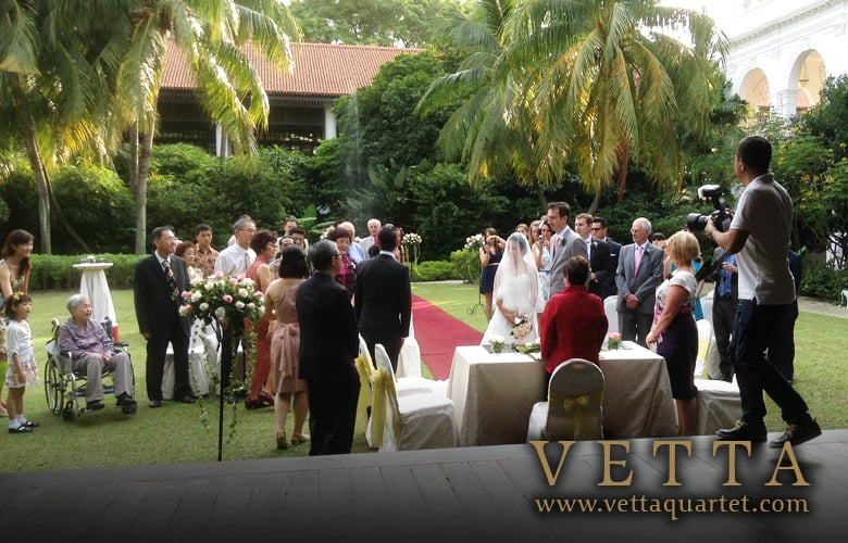 Wedding at Raffles Hotel, The Lawn