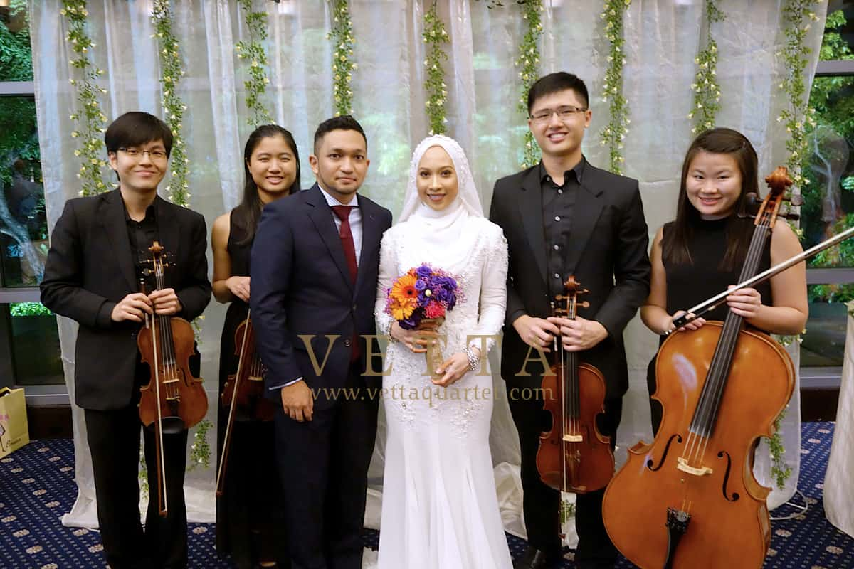 String Quartet for Sarah Zul's Wedding at Royal Plaza on Scotts