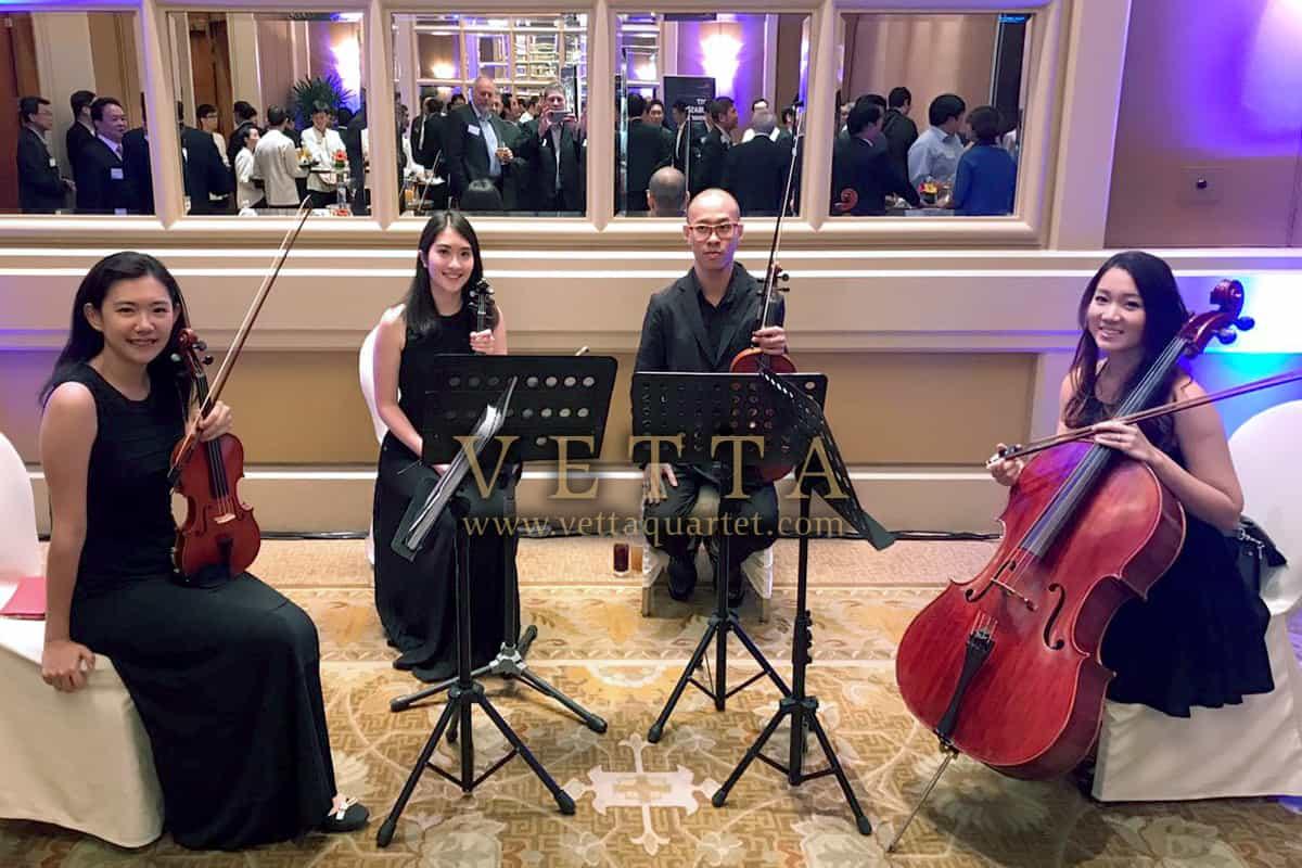 String Quartet for Corporate Cocktail Reception at Conrad Centennial Hotel