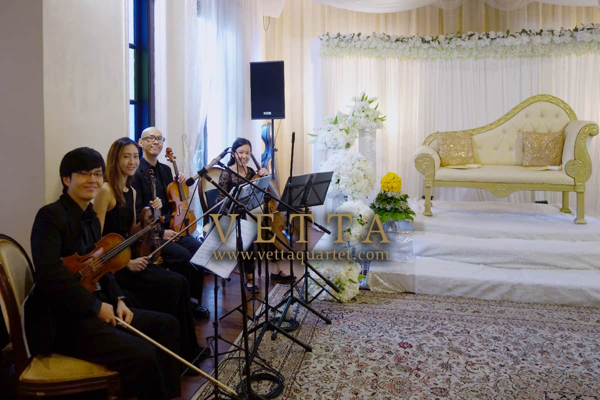 String Quartet for Sofee's Malay Wedding at 73 Sultan Gate