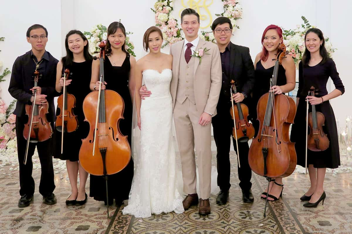 Singapore Wedding Music String Quartet at CHIJMES