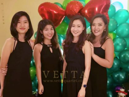 ESTA Quartet for Regina's Wedding at Amara Singapore