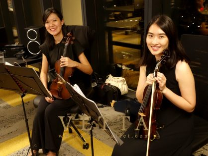 Violin Duo for Corporate Event at DUO Tower