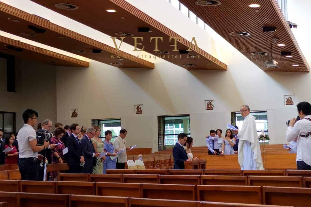 Trixia's Wedding at Church of St Ignatius