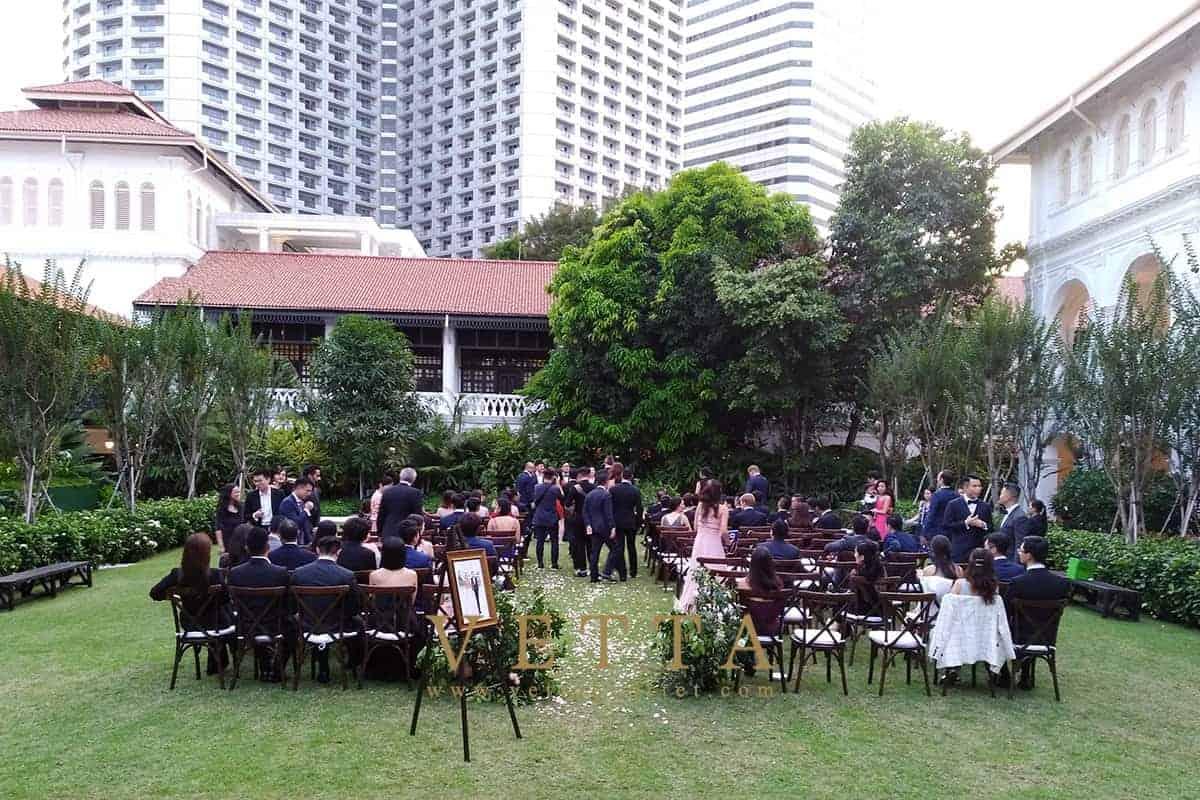 Wedding at The Lawn & The Palm Garden, Raffles Hotel