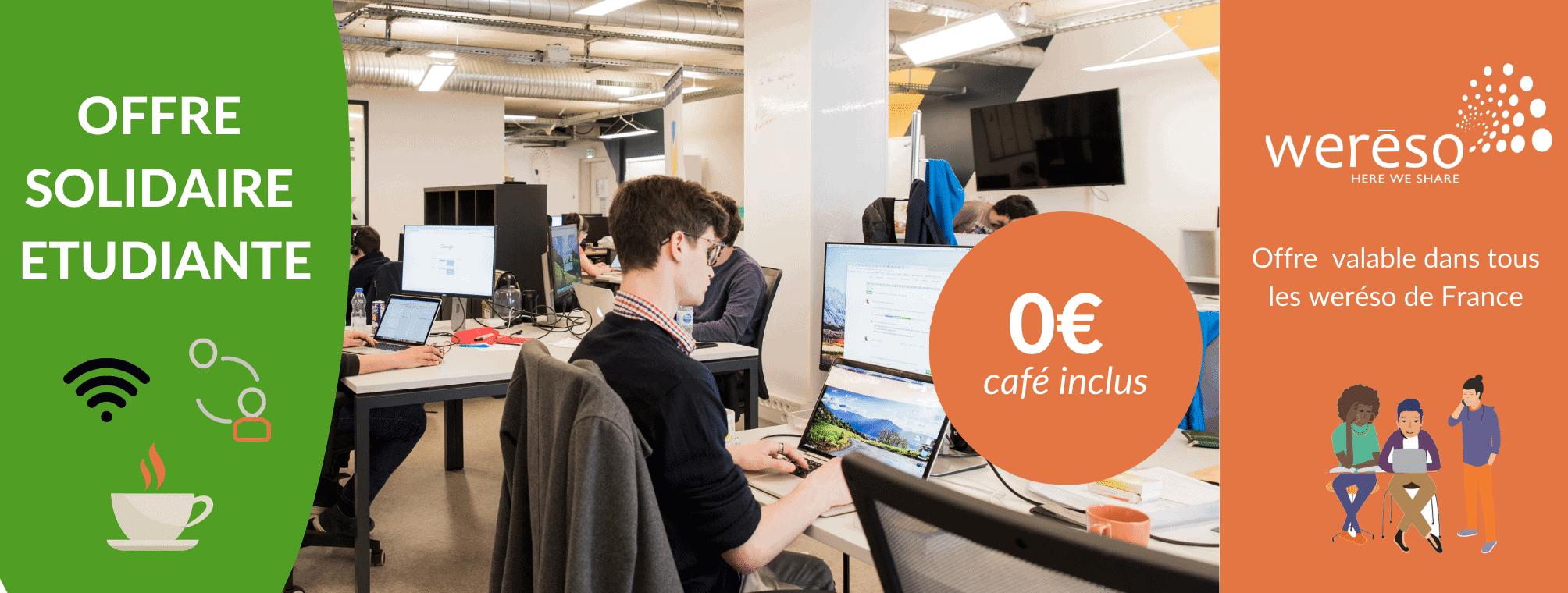 weréso : coworking chaleureux et professionnel offert aux étudiants