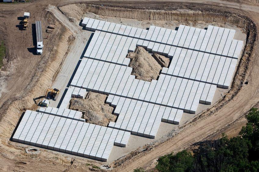 Burial Vaults Aerial Abe Lincoln Precast Concrete