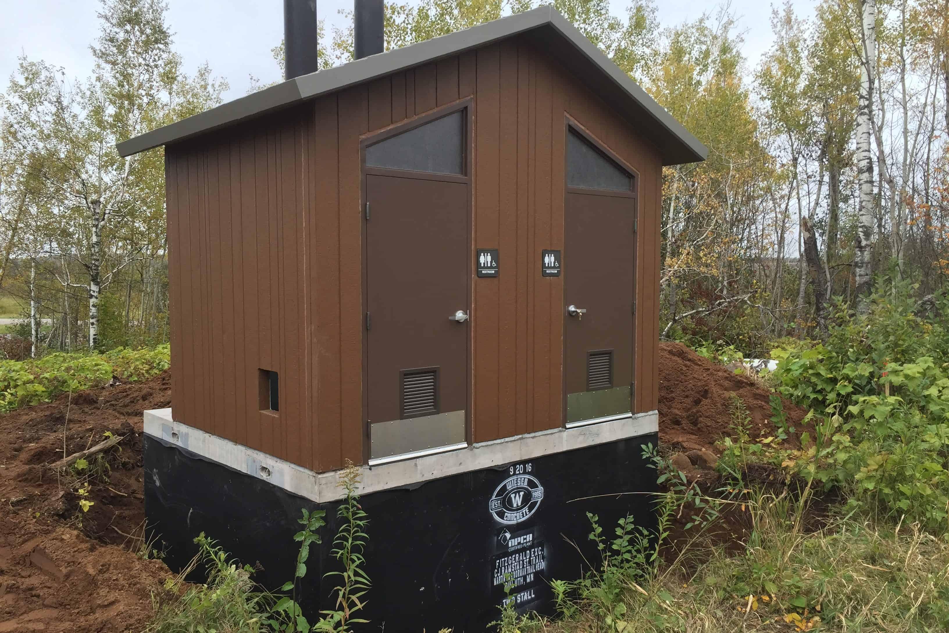 CJ Ramstad State Trail Bathrooms Precast Concrete Building