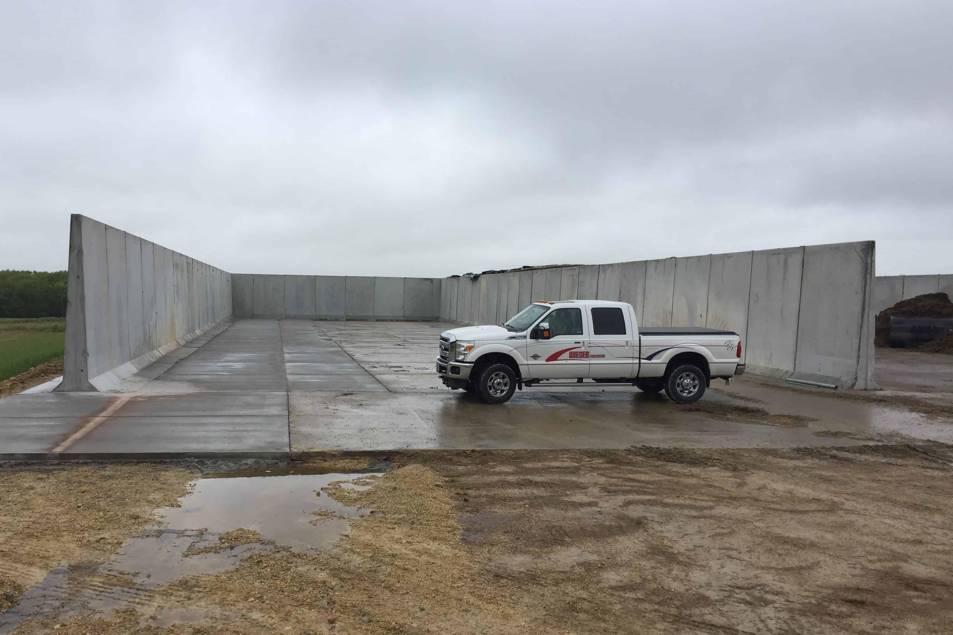 Fetzer Farms Precast Concrete Bunker Silo Addition