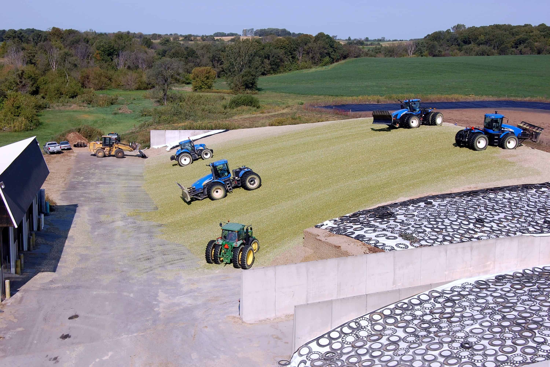 Fetzer Farms Precast Concrete Bunker Silos