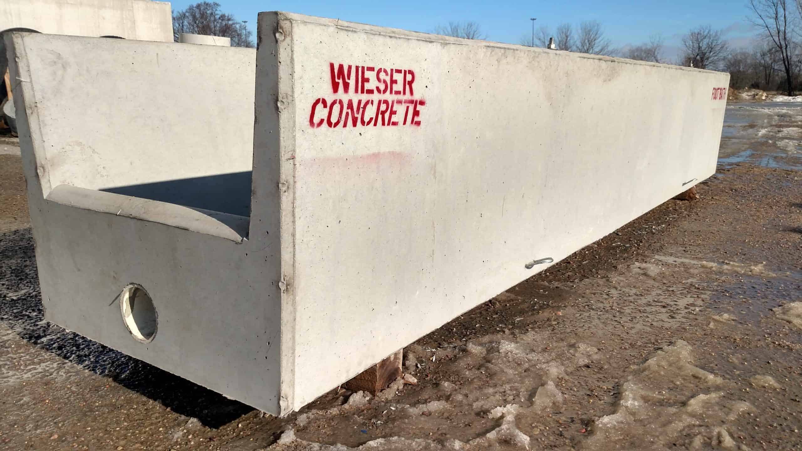 Precast Concrete Cattle Foot Bath by Wieser Concrete