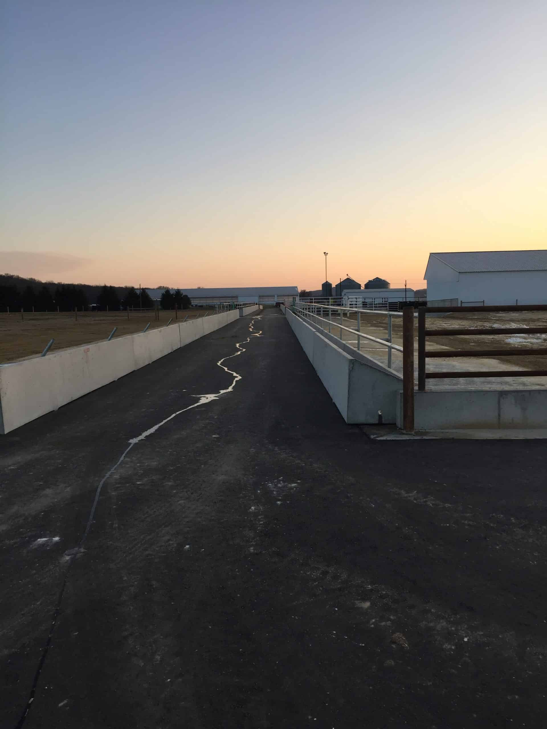 Rooney Farms Feed Bunks by Wieser Concrete