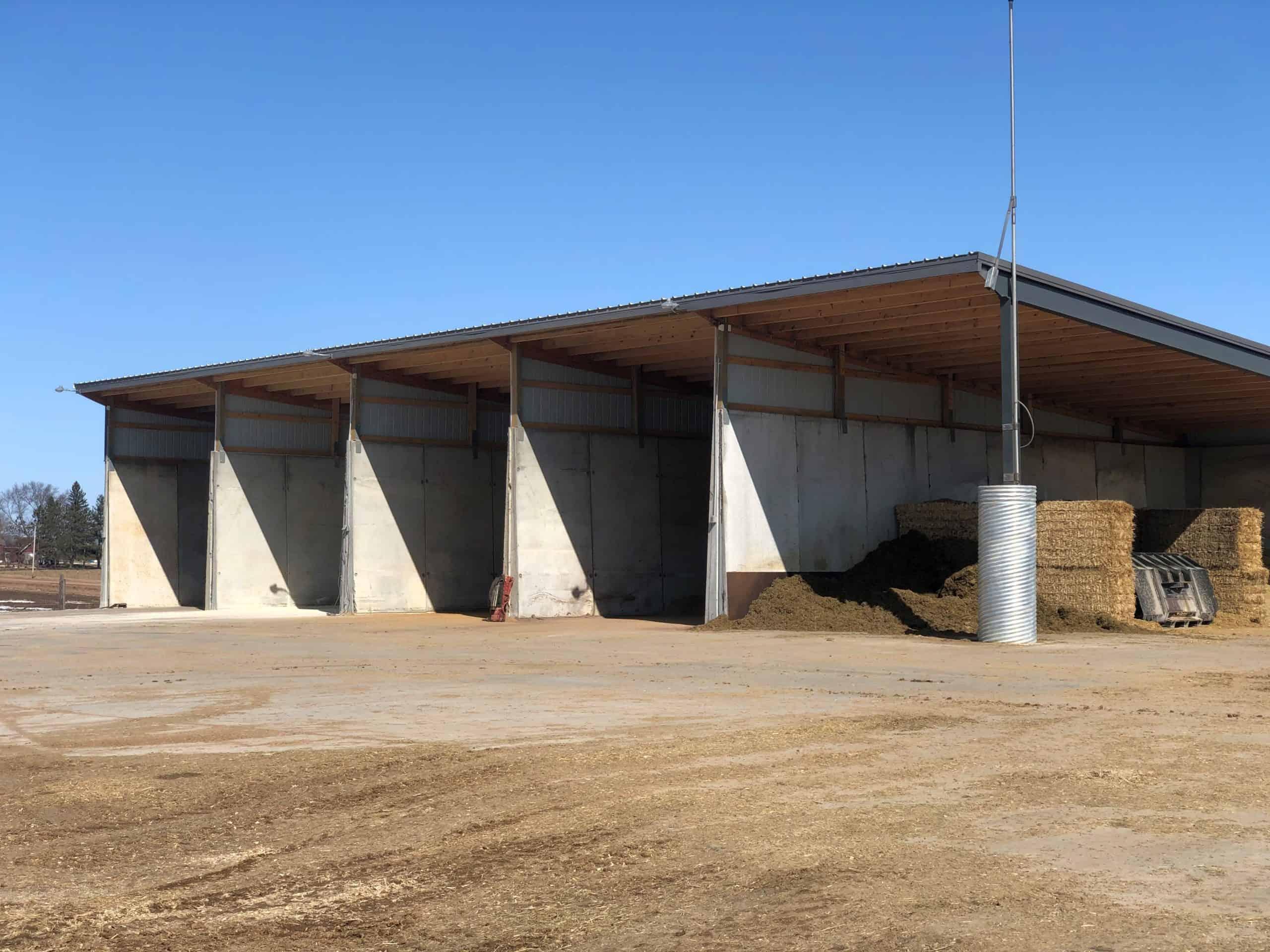 Maple Ridge Dairy Commodity Storage Bunker Silos by Wieser Concrete