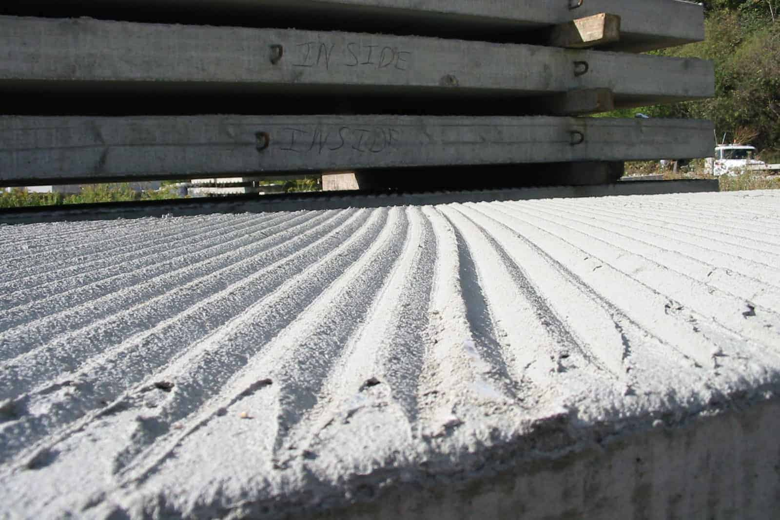 Precast Concrete Boat Ramp Planks Close Up