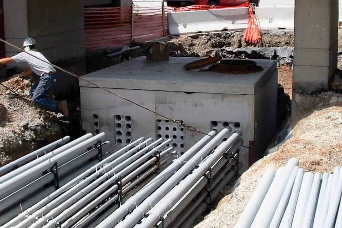Precast Concrete Electric Manhole Green Bay Airport