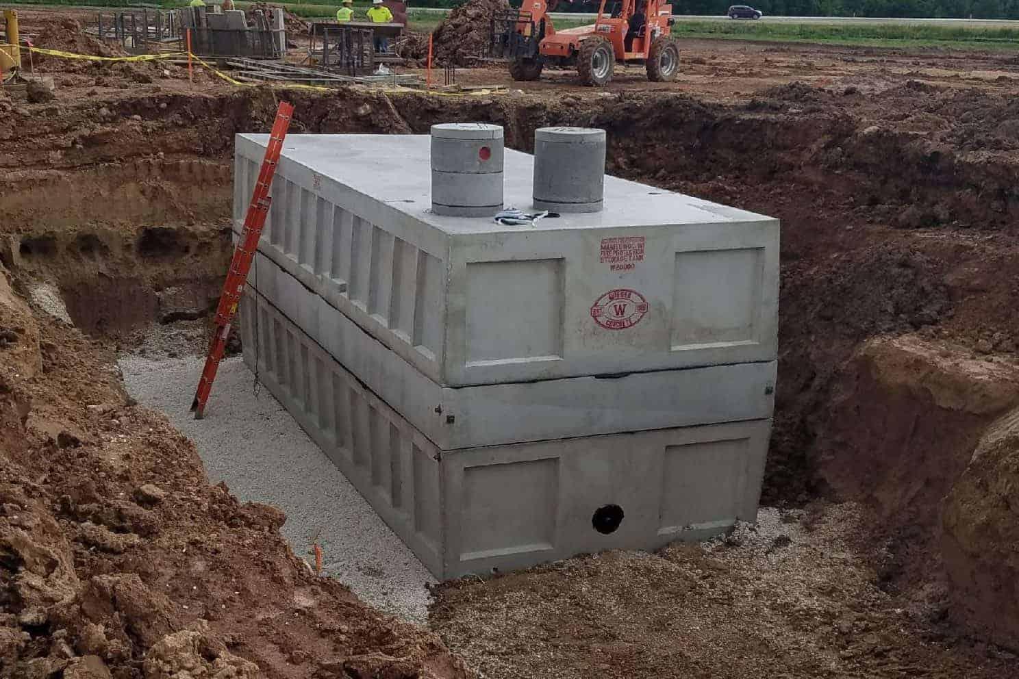Precast Concrete Fire Protection Tank EC Grow