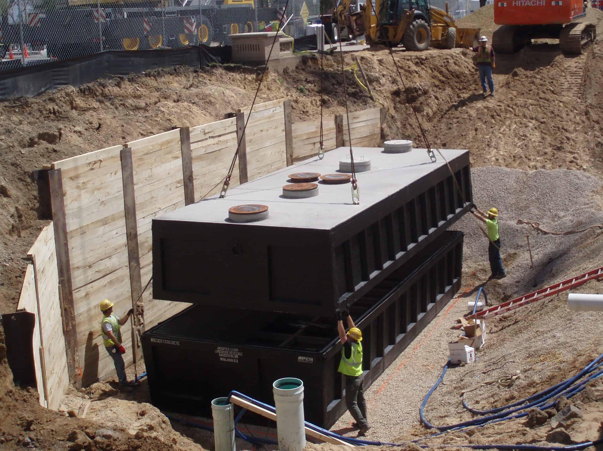 Precast Concrete Grease Interceptor Lakeshore