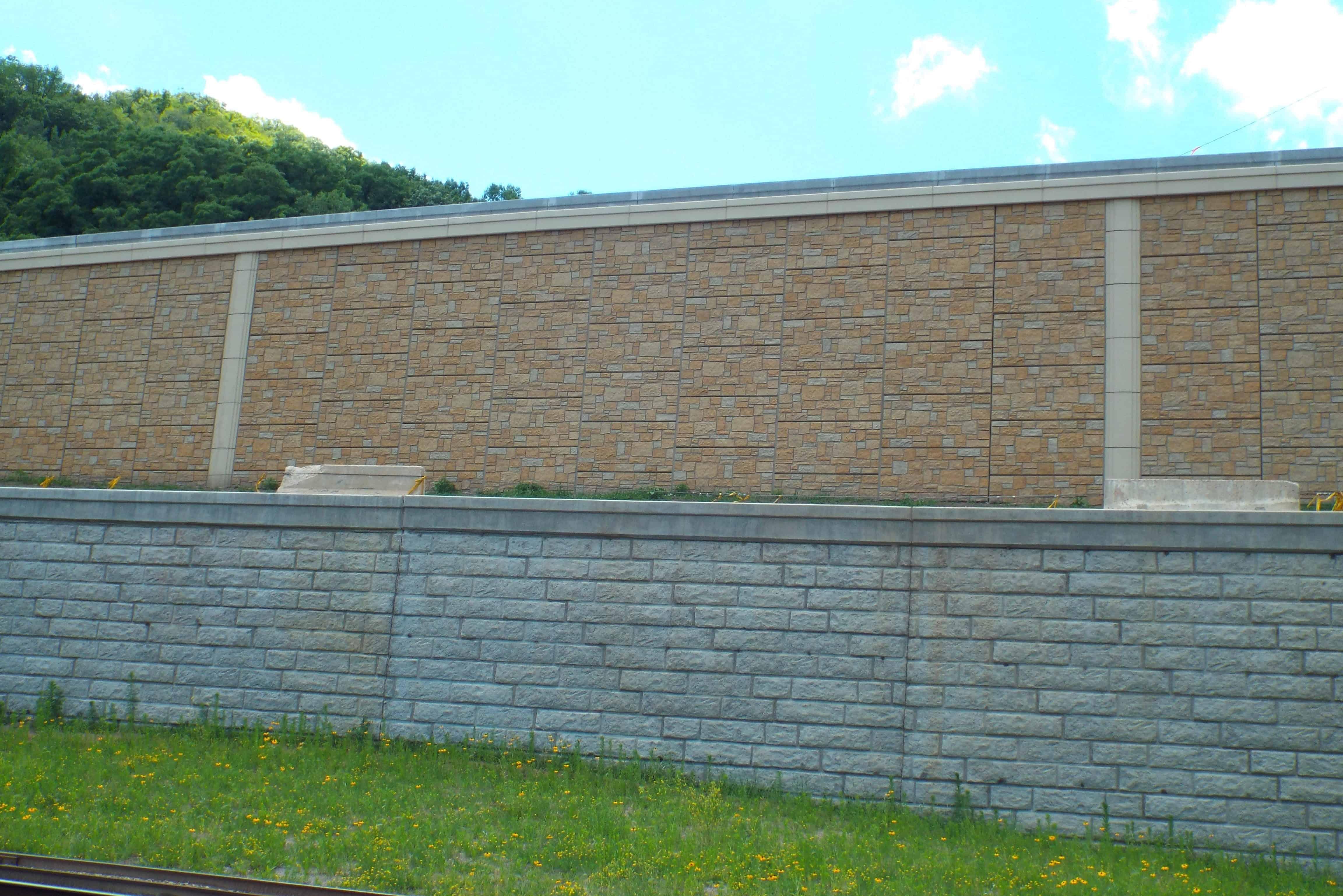 Precast Concrete RECO MSE Retaining Wall