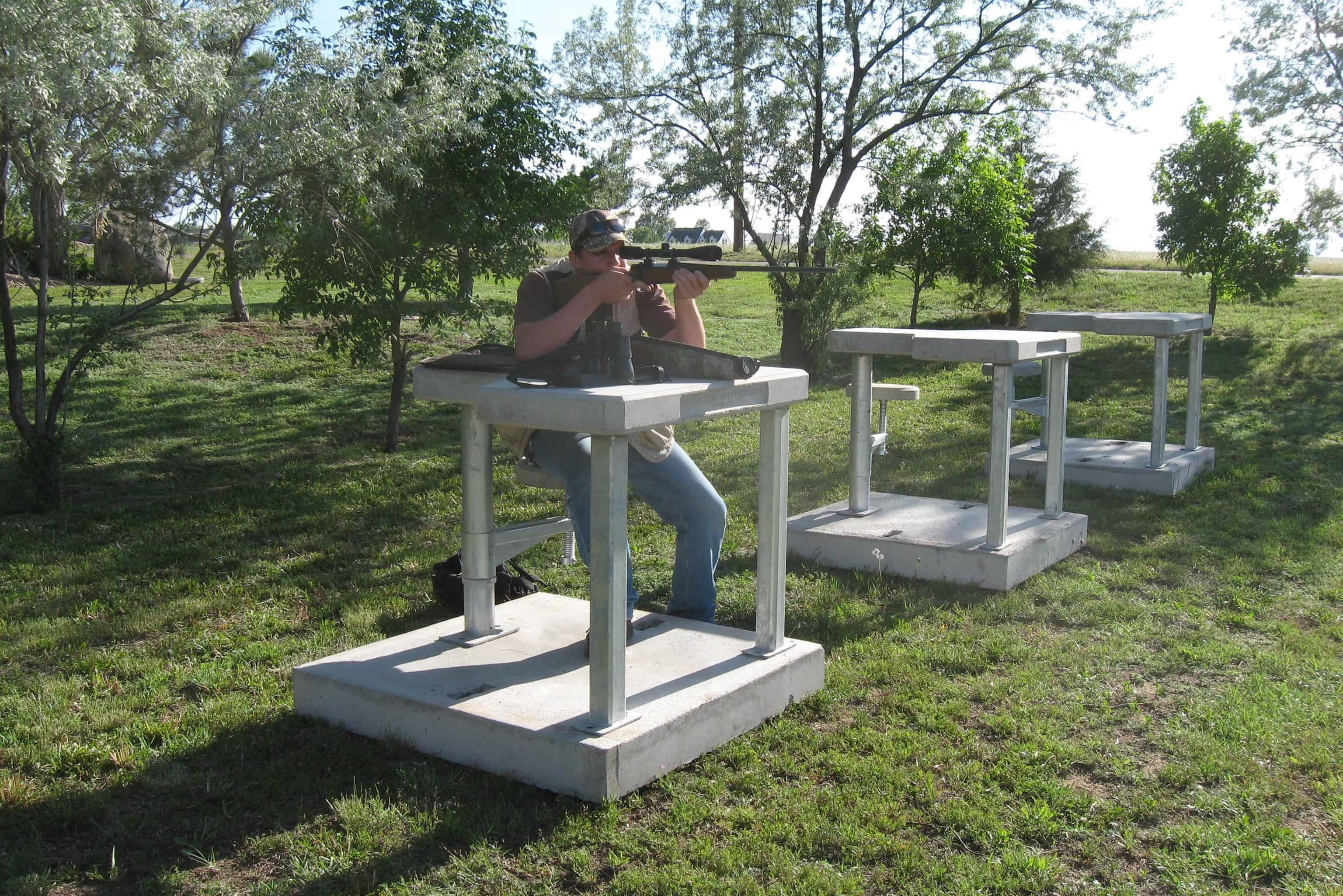 Precast Concrete Shooting Bench Range