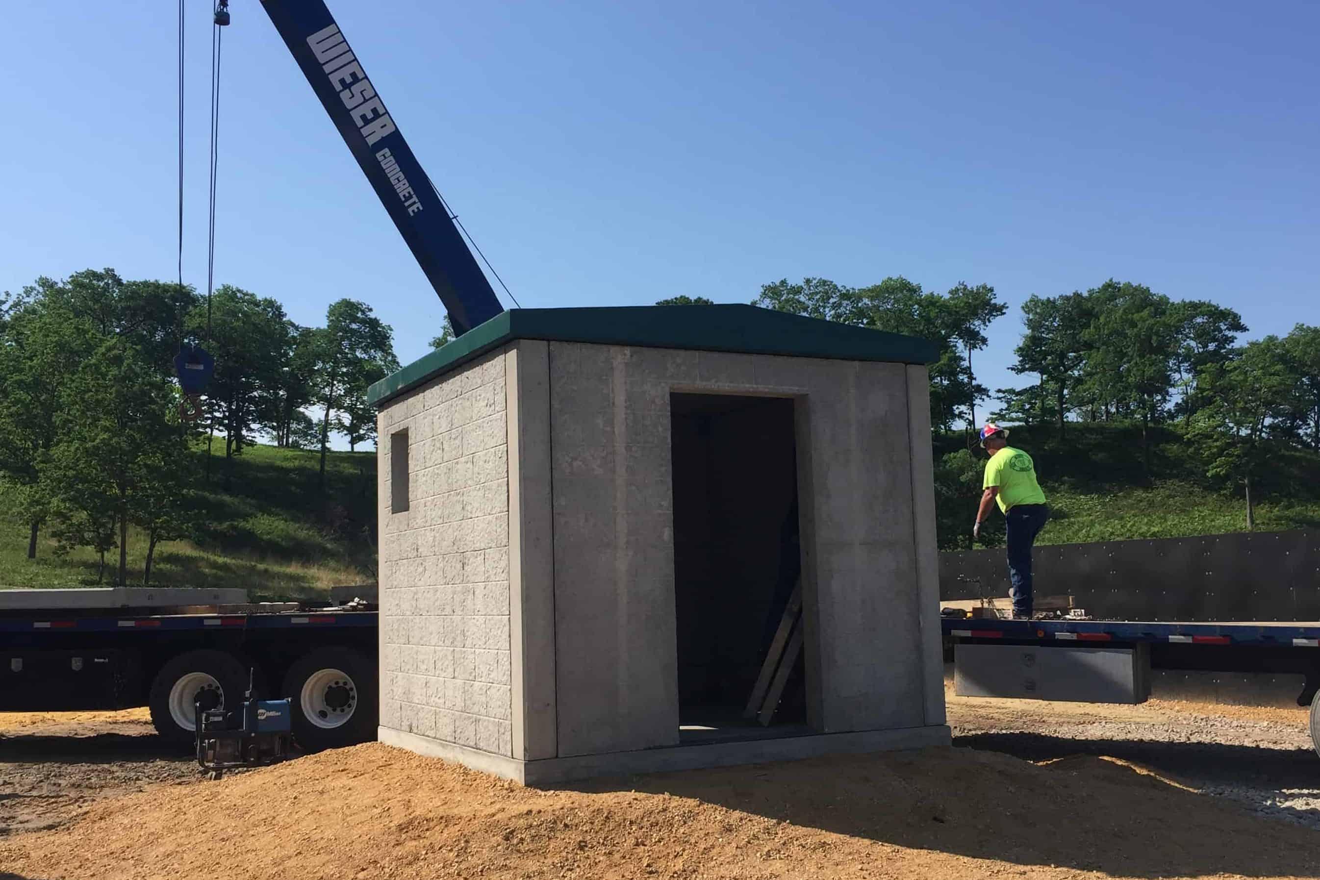 Precast Concrete Utility Building Fort McCoy