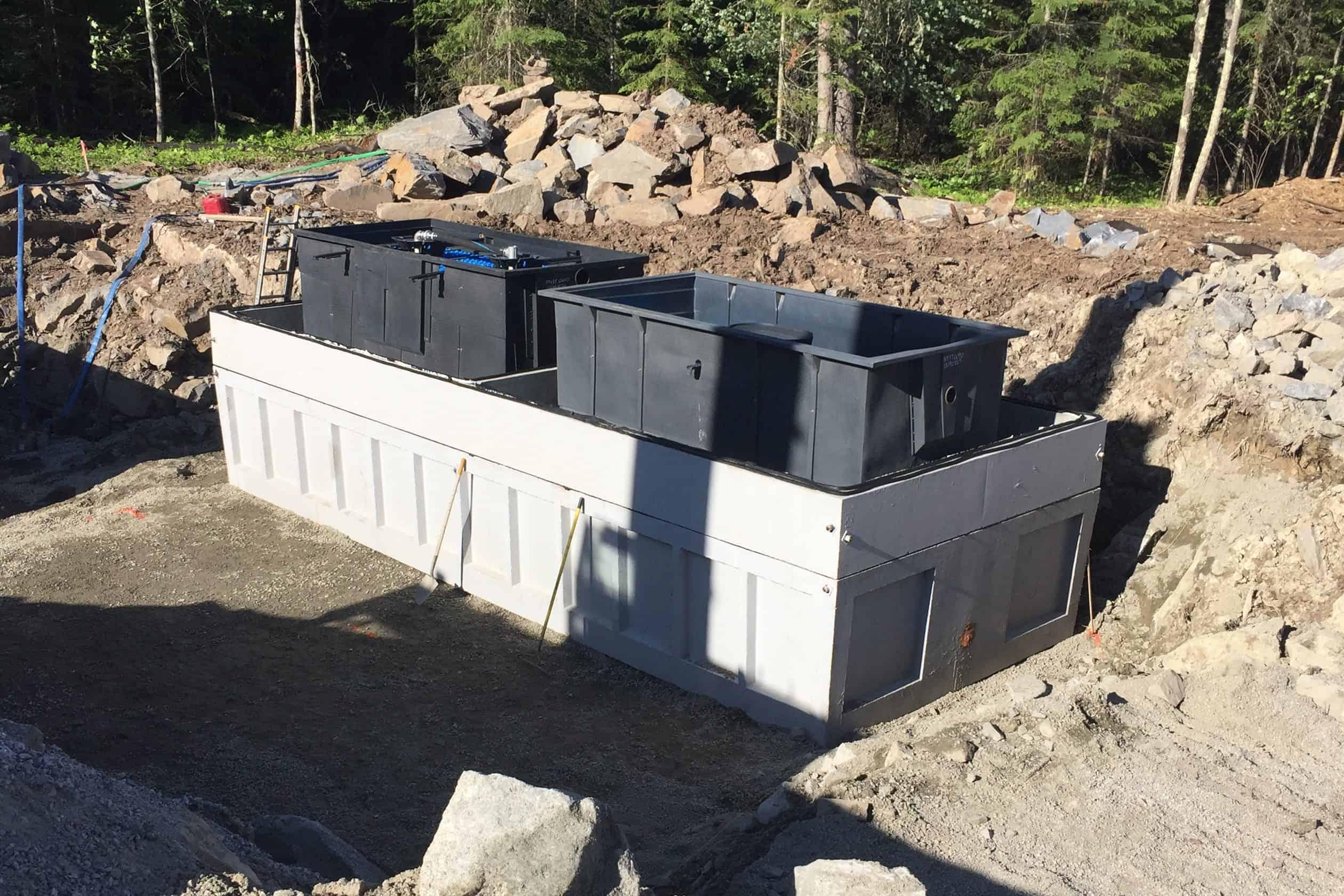 Precast Concrete Wastewater Treatment System Kabetogama