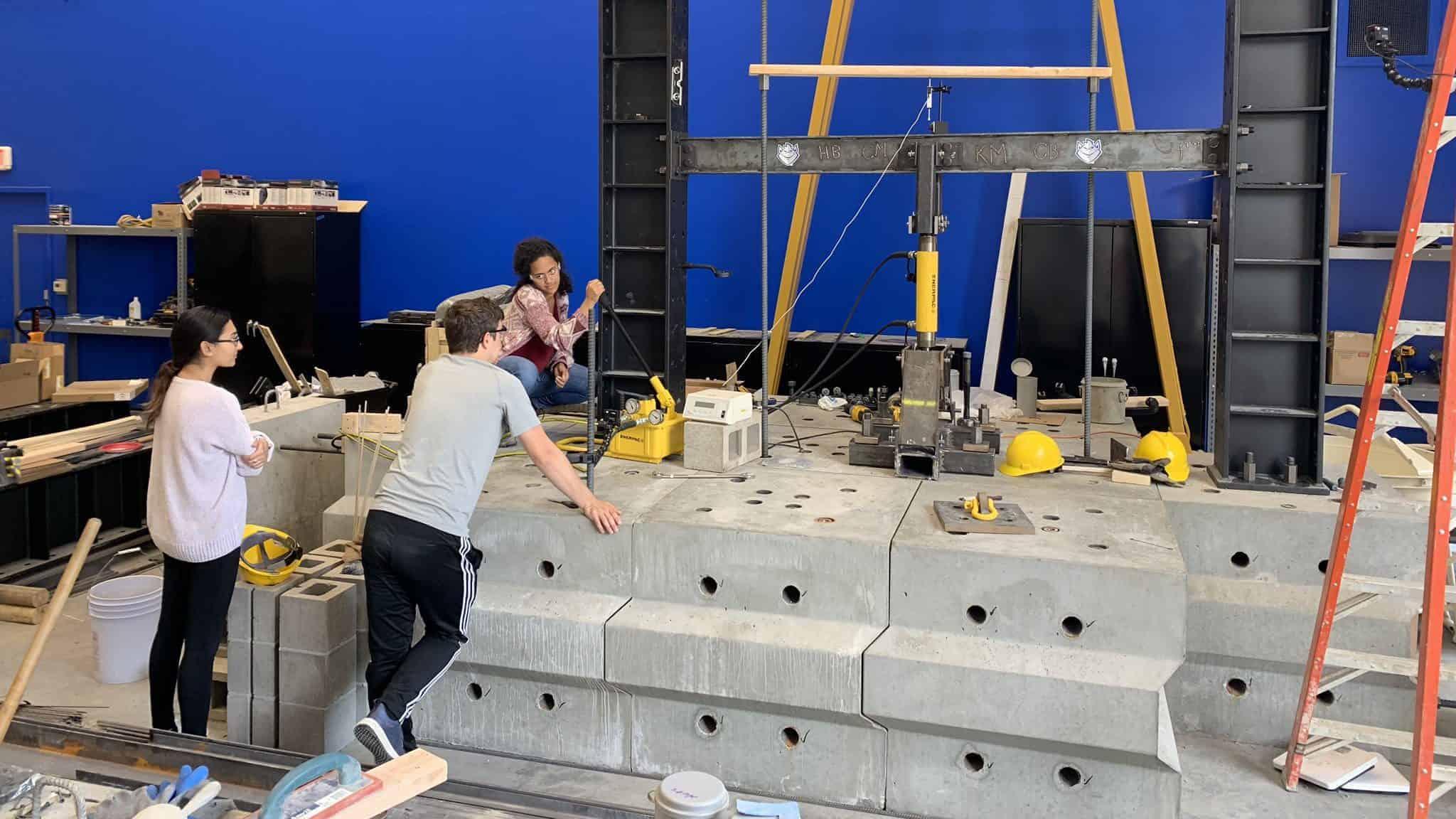 St. Louis University Structural Engineering Lab Blocks by Wieser Concrete