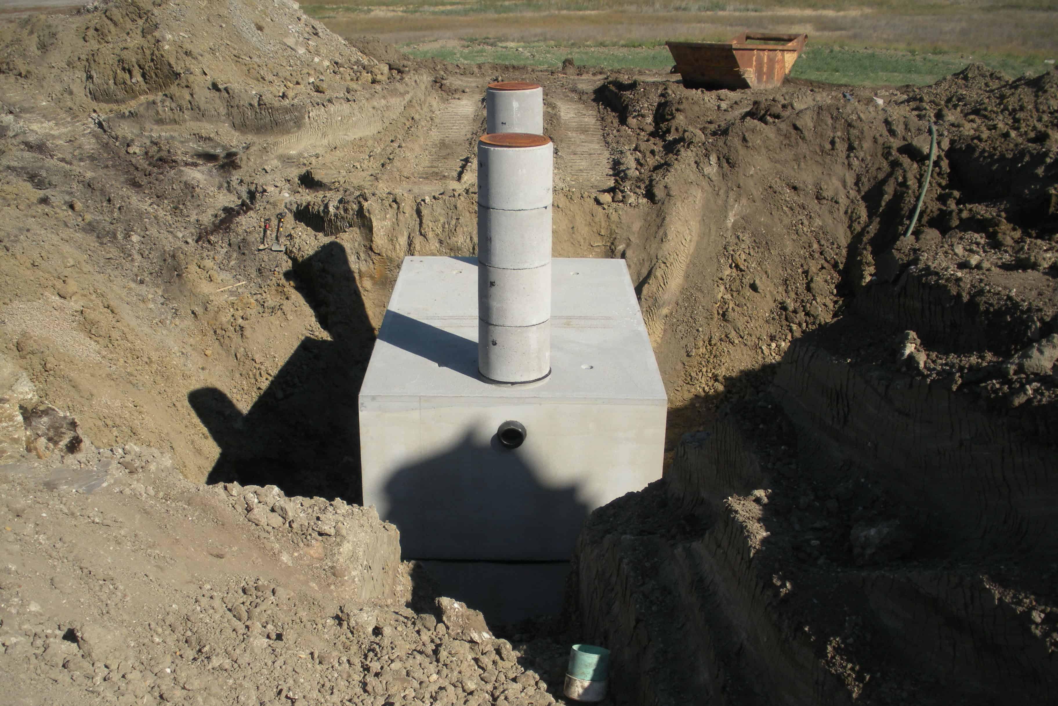 Stormwater Retention 10,000 Gallon Precast Concrete Tank
