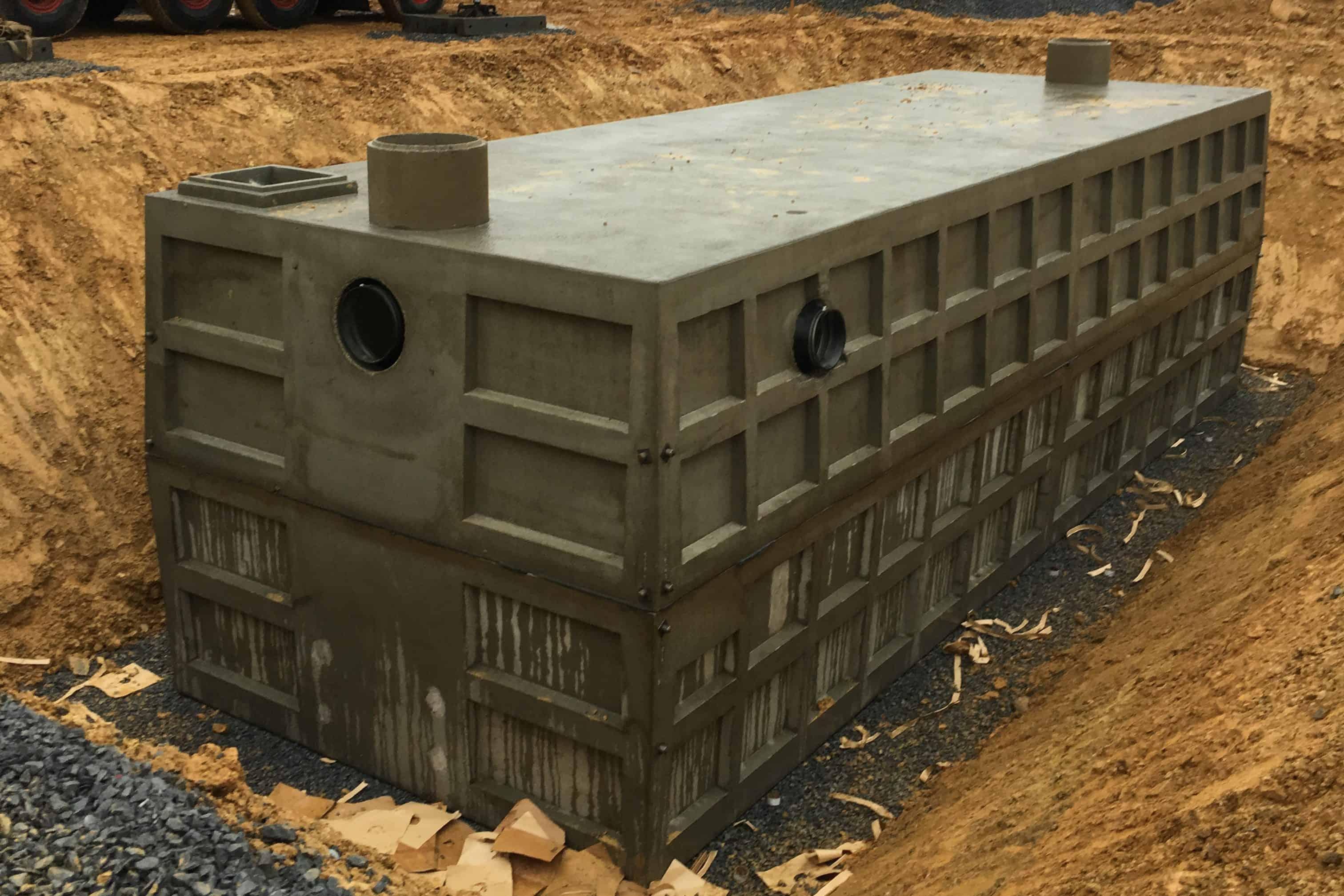 Stormwater Retention Precast Concrete Tank 40,000 Gallon