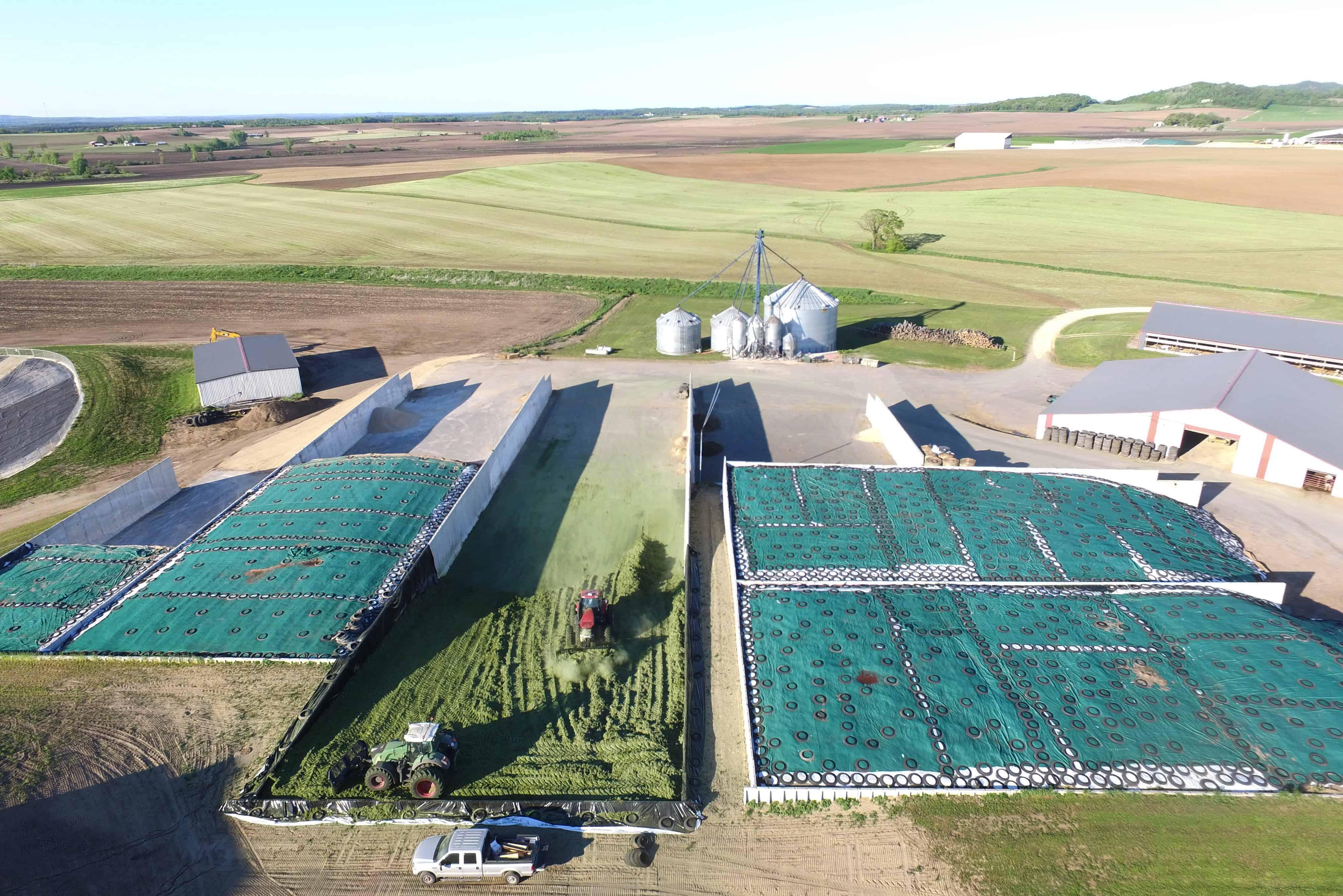 Weiss Family Farms Precast Concrete Bunker Silos Harvest