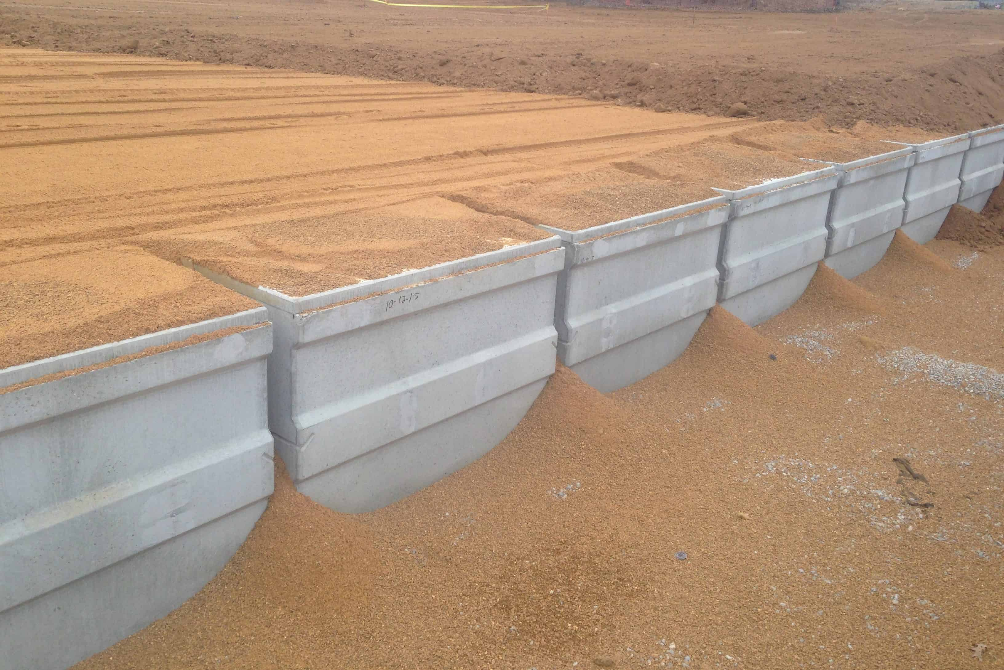 West Tennessee VA Cemetary Burial Vaults Covered Precast Concrete