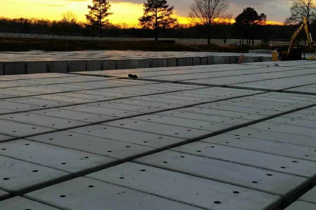 West Tennessee VA Cemetary Burial Vaults Precast Concrete