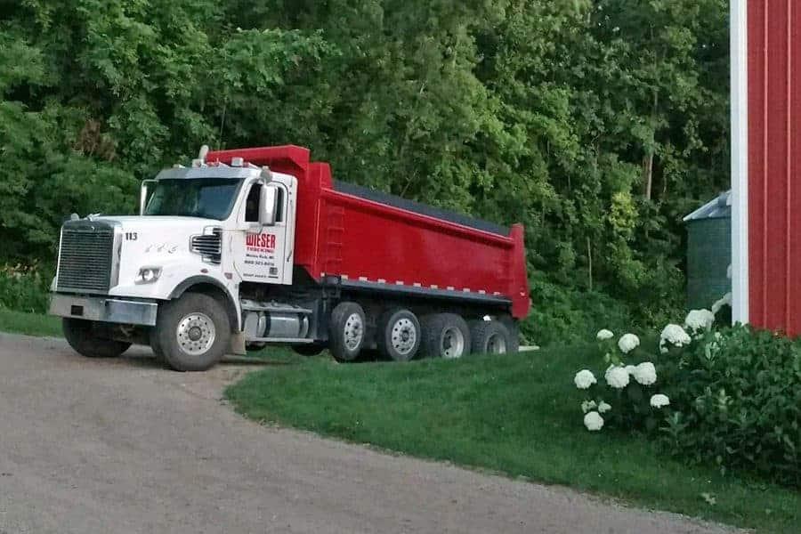 Aggregate Dump Truck Wieser Concrete