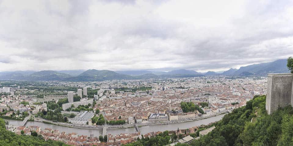 photo numérique nikon d700 panoramique vue de la Bastille sur Grenoble
