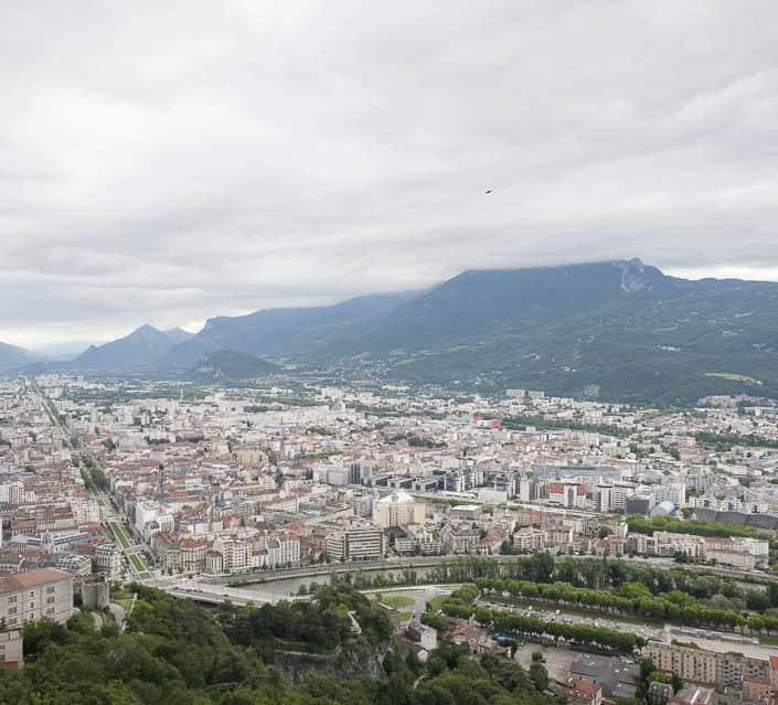 photo numérique nikon d700 vue de la Bastille sur Grenoble - 1