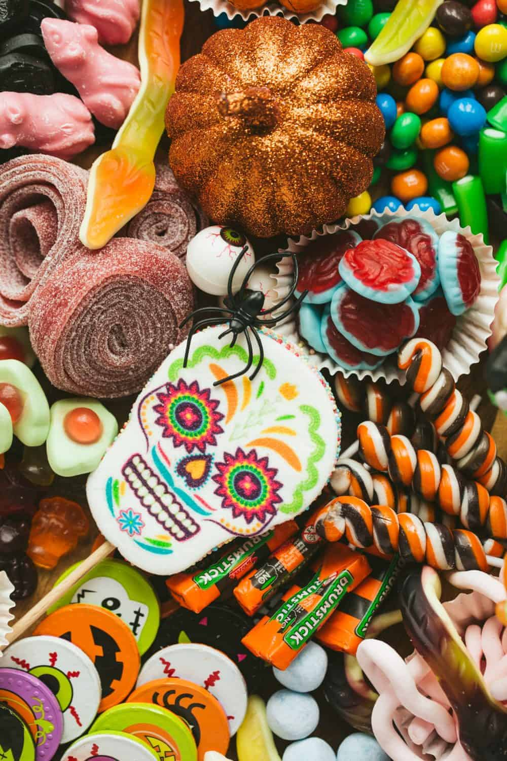 Close up image of Halloween sweets.