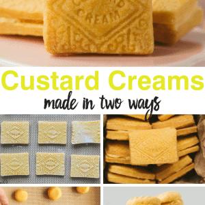 Pinterest image for Custard Creams recipe