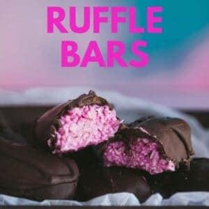Pinterest image for Raspberry Ruffle Bars.
