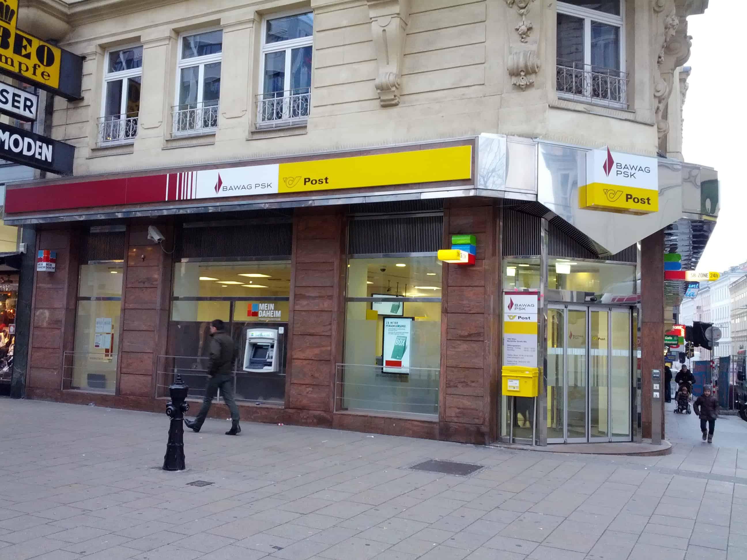 BAWAG P. S. K. Bank für Arbeit und Wirtschaft und Österreichische Postsparkasse AG Zws. Mariahilfer Straße
