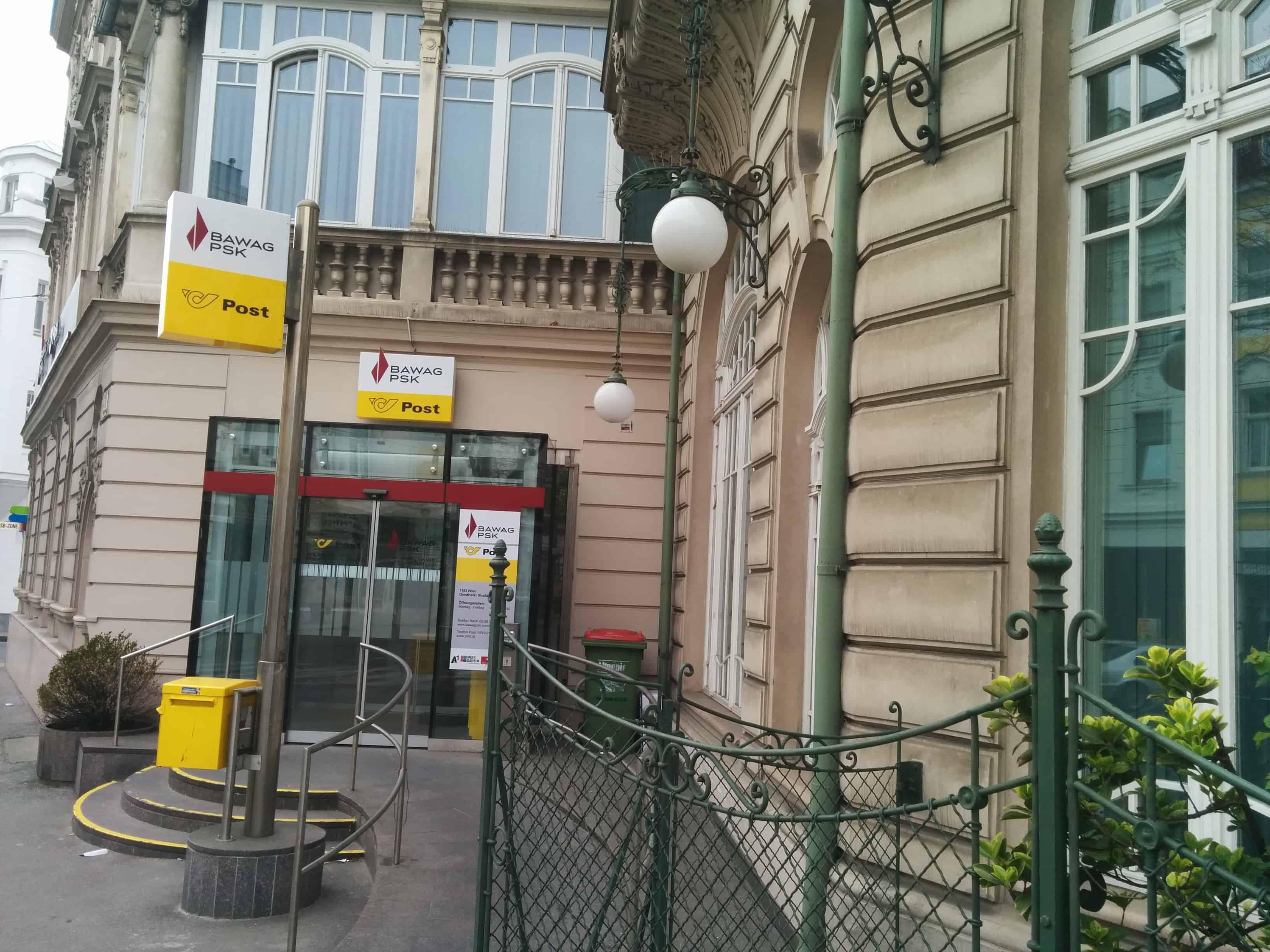 BAWAG P. S. K. Bank für Arbeit und Wirtschaft und Österreichische Postsparkasse AG Zws. Gersthofer Straße