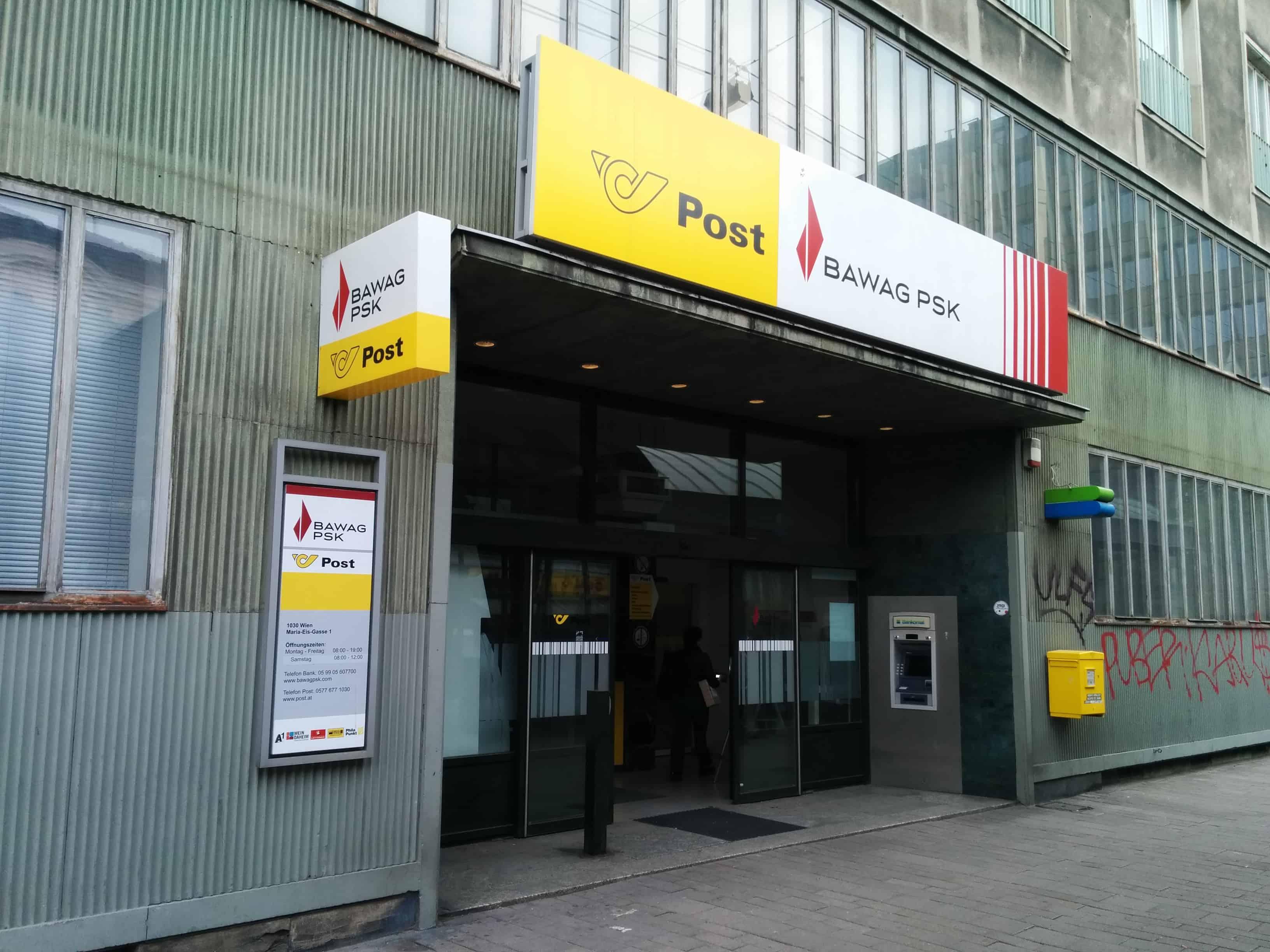 BAWAG P. S. K. Bank für Arbeit und Wirtschaft und Österreichische Postsparkasse AG Zws. Landstraße