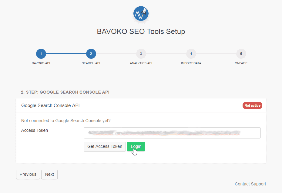 Google Search Console Connection: Step 4