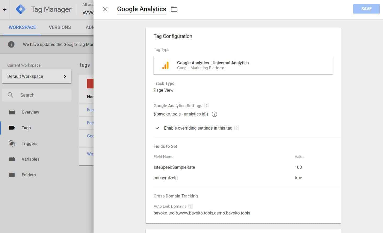 How to optimize your Analytics Tracking Code within the Google Tag Manager