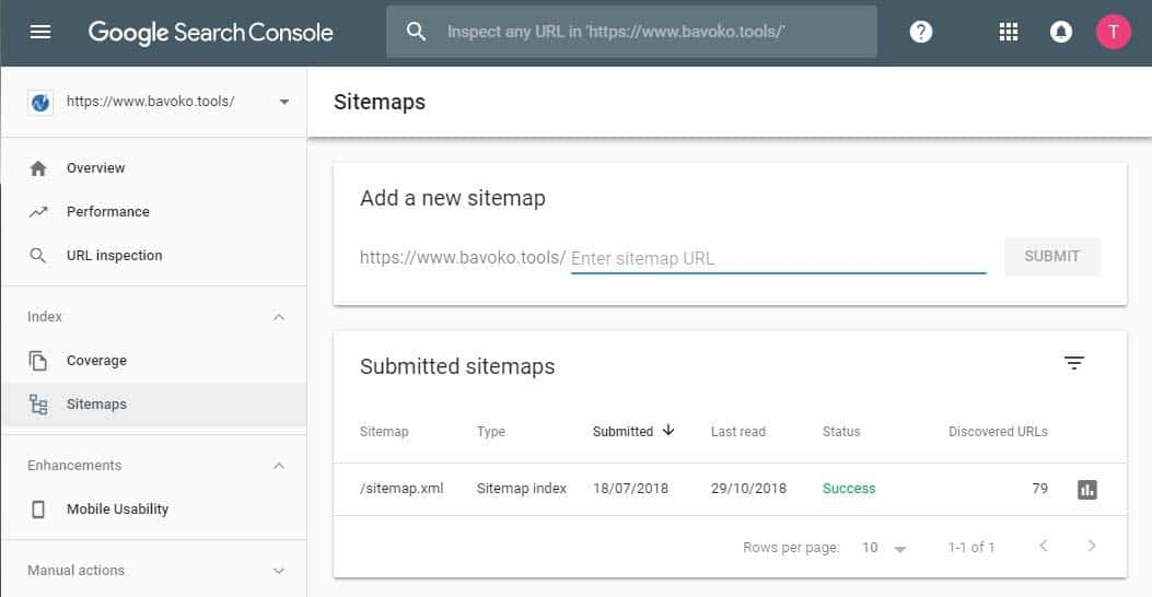Creating and submitting a WordPress Sitemap with the BAVOKO SEO Tools Plugin