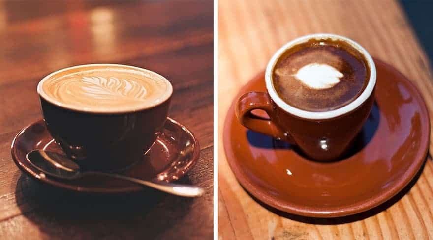 The difference between a flat white and a macchiato