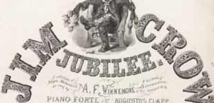 "Detail from 19th century printed matter entitled ""Jim Crow Jubilee"""