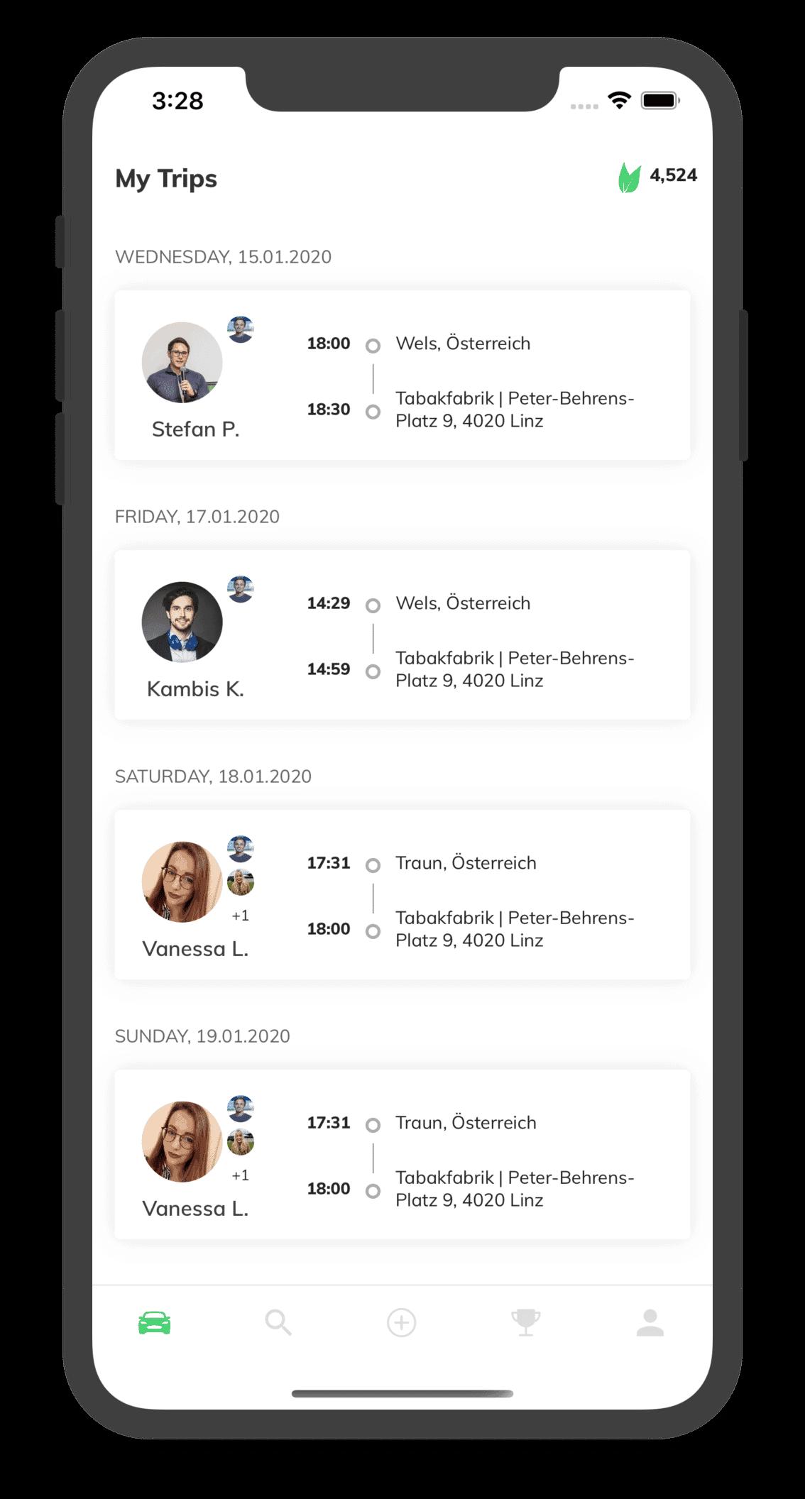 Organized Trips Screenshot