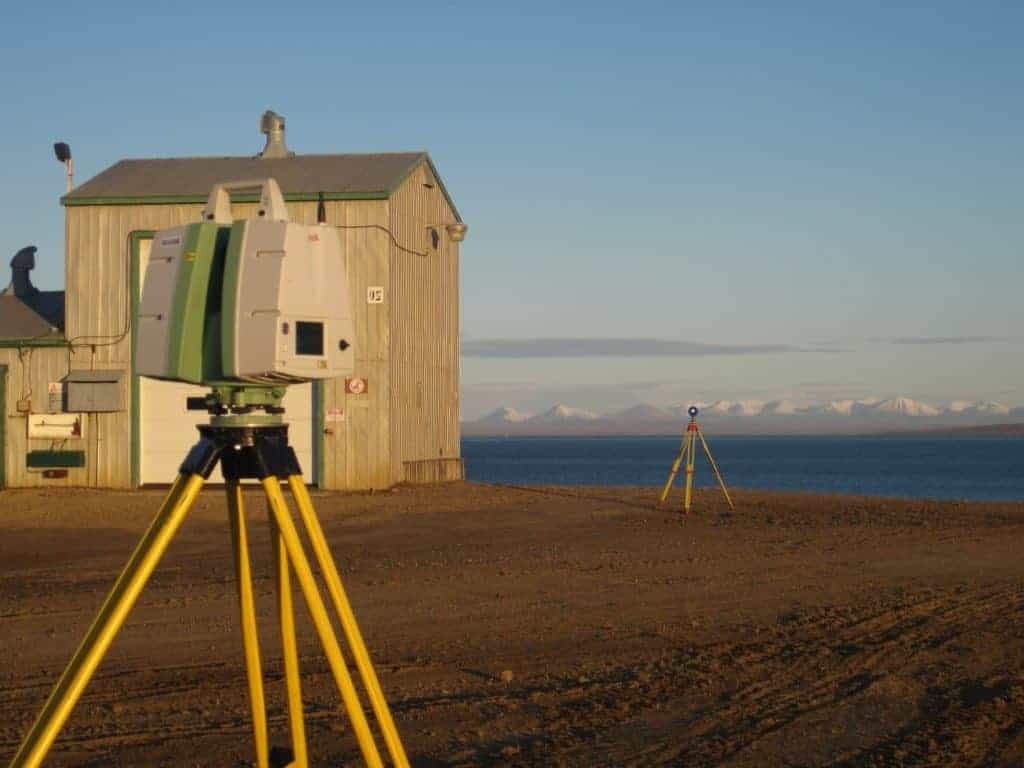Distant Early Warning Station laser scanning Sturt Point Nunavut