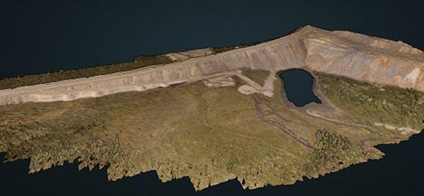 Faro Mine Earthworks point cloud