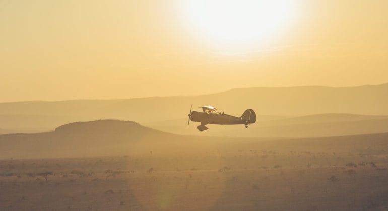 Lewa Wilderness biplane rides