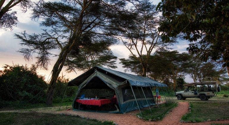 Ol Kinyei Adventure Camp Mess Tent